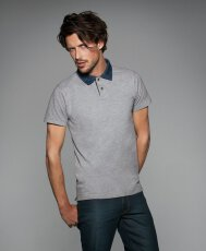 Polo Piqué Denim